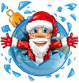 santa claus with christmas ball vector image