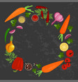 vegetables and ingredients vector image