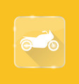 flat style motorcycle silhouette icon vector image