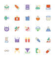 Science Colored Icons 6 vector image