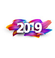 2019 new year festive background with colorful vector image vector image