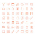 49 paper icons vector image vector image