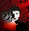 abstract girl vector image