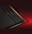 abstract red grey gold metallic luxury overlap vector image vector image
