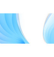 abstract white and blue wavy background vector image vector image