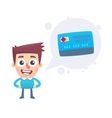 Advantages of debit card vector image vector image