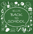 back school card chalk hand drawn vector image vector image