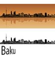 Baku skyline in orange vector image vector image
