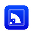 baseball field icon digital blue vector image vector image
