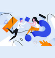 business geometry teamwork concept woman sitting vector image vector image