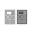 calculator line and glyph icon office and work vector image vector image