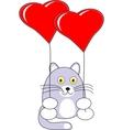 cartoon baby cat toy vector image