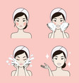 clean face bright vector image vector image