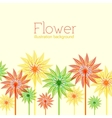 Colorful abstract floral with leaves and flowers vector image