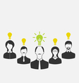 concept of leadership and new idea Business people vector image vector image