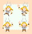 cute vikings set vector image