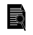 document with magnifying glass isolated icon vector image