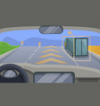driverless car highway moving concept background vector image