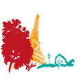 Eiffel tower hand drawn Paris vector image vector image