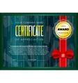 Emerald certificate design vector image vector image