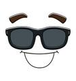 Face emoji with sunglasses kawaii character