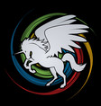 Fly unicorn silhouette
