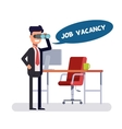 Free vacancy for a promising place Leader is vector image vector image