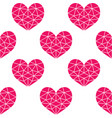 geometric pink cubic heart seamless pattern vector image