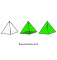 geometry shapes shapes wireframe 3d model vector image vector image