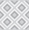 gray rhombus carpet seamless pattern vector image vector image