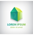 green house icon logo isolated vector image vector image