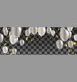 happy birthday - silver foil confetti and white vector image vector image
