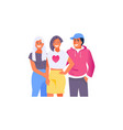 hugging friends teen vector image