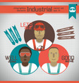 industrial workers infographics elements vector image vector image
