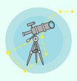 line telescope icon isolated vector image vector image