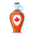 maple syrup bottle vector image