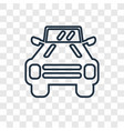 military vehicle concept linear icon isolated on vector image