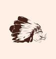 native american smoke cannabis vector image
