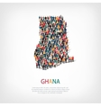 people map country Ghana vector image vector image
