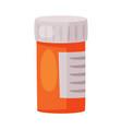 plastic medicine bottle pharmaceutical container vector image