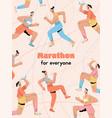 poster marathon for everyone concept vector image