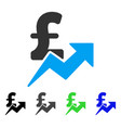pound sales growth flat icon vector image vector image
