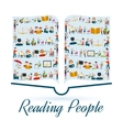 Reading People Concept vector image vector image