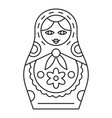 russian nesting doll icon outline style vector image vector image