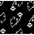 seamless folk background vector image vector image