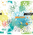 seamless pattern with color paint splashes vector image