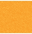 Seamless pattern with curls on orange background vector image
