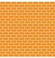 Seamless pattern with orange bricks vector image vector image