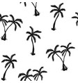 seamless pattern with silhouette palm tree vector image vector image