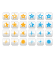 Stars yellow and blue stars buttons set vector image vector image